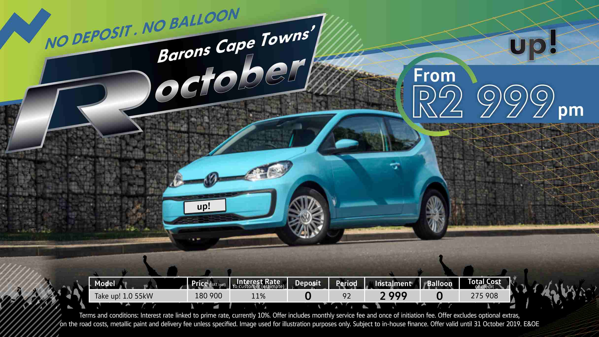 Barons Cape Town VW up Rocktober special