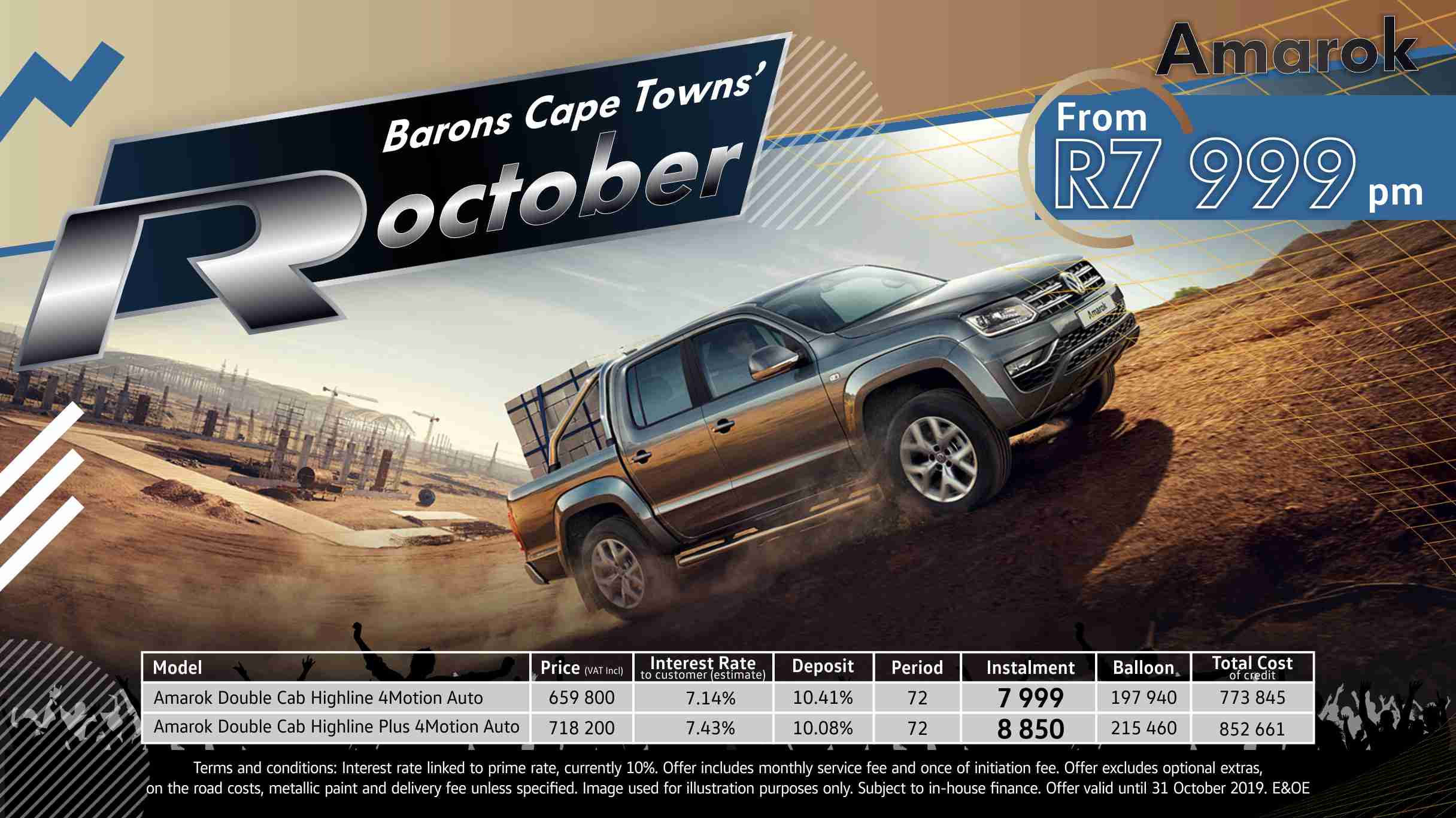 Barons Cape Town October Amarok offer
