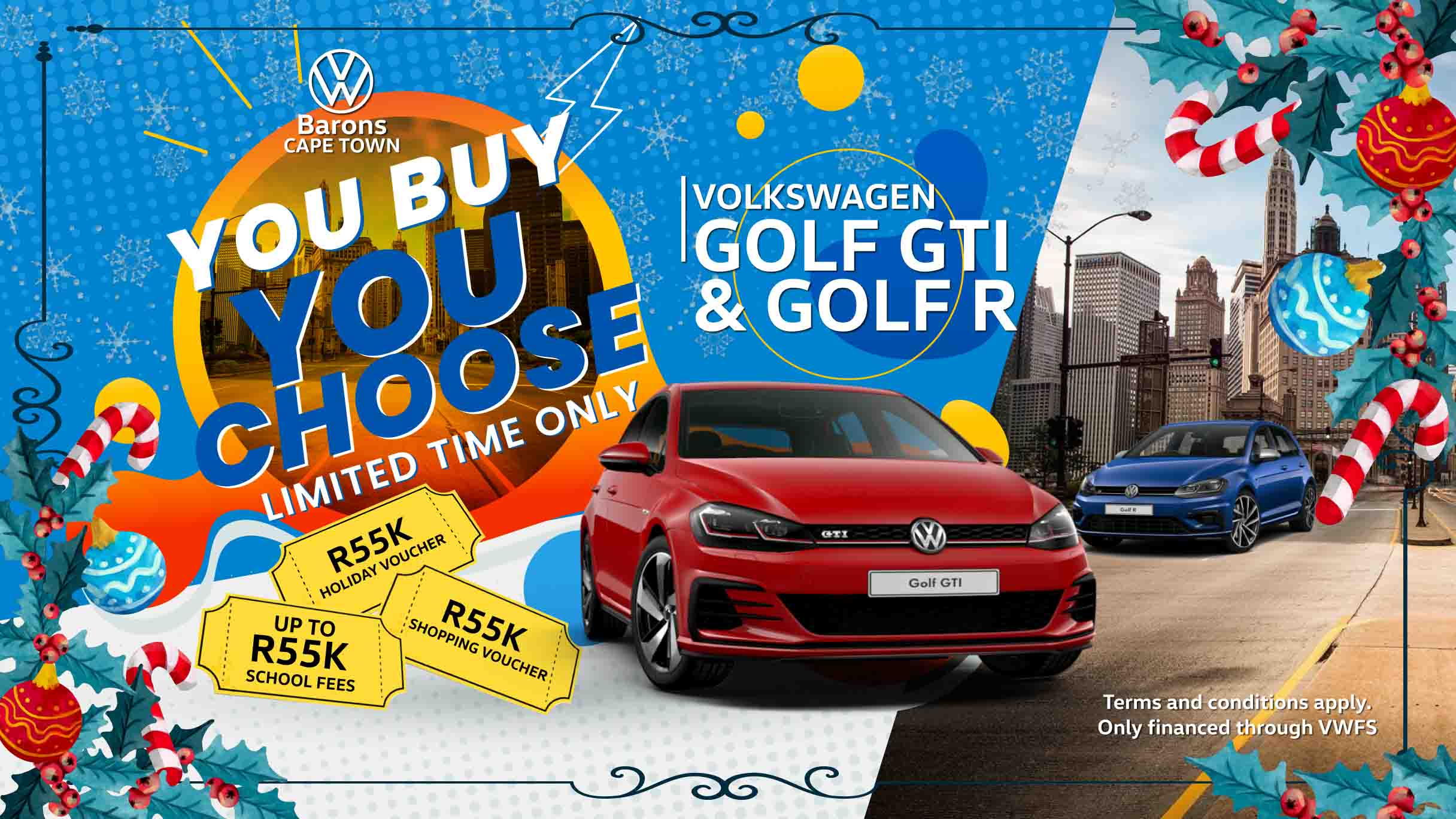 Festive deal on the Golf GTI and R