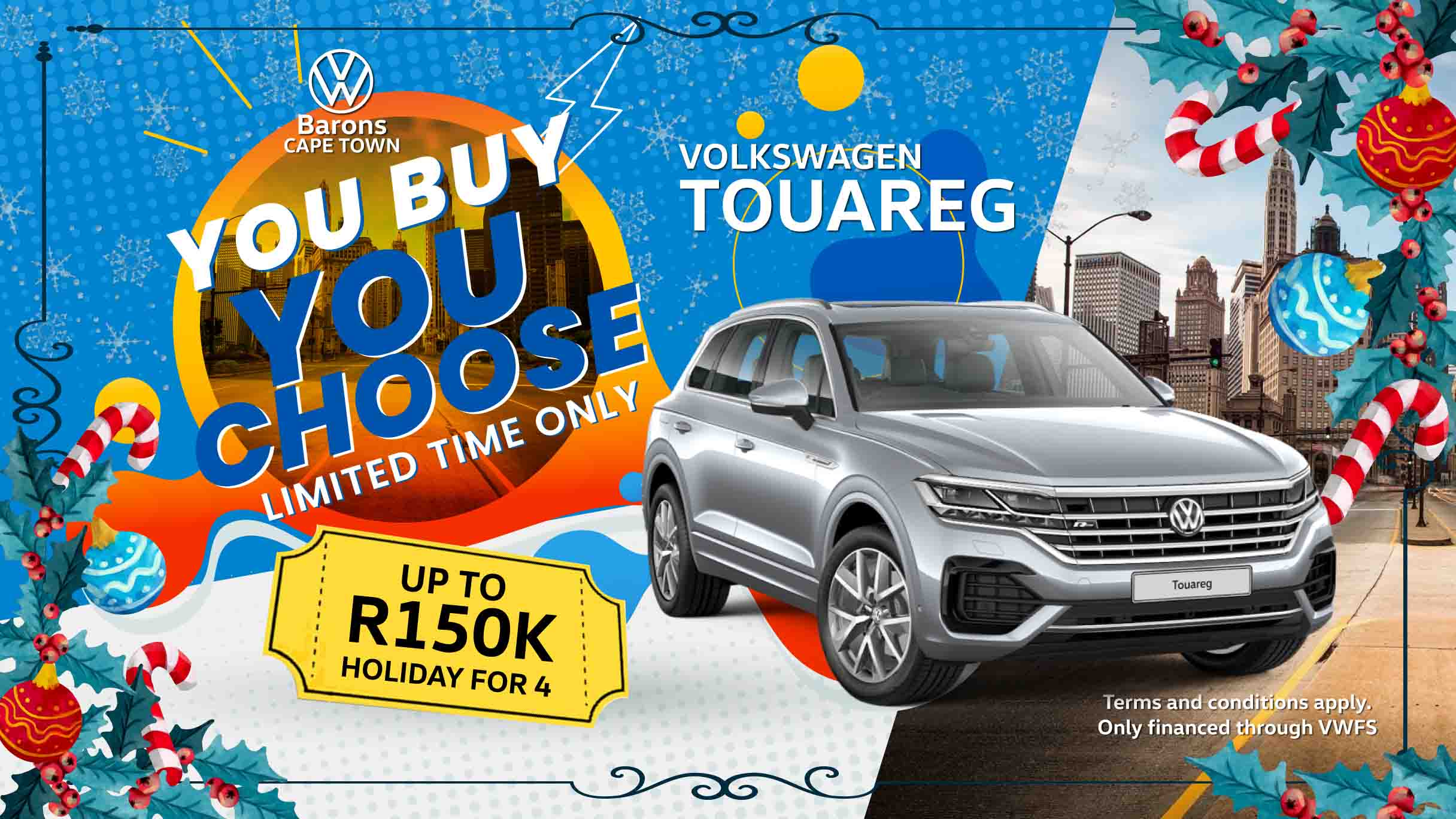 Festive offer on the Touareg at Barons Cape Town