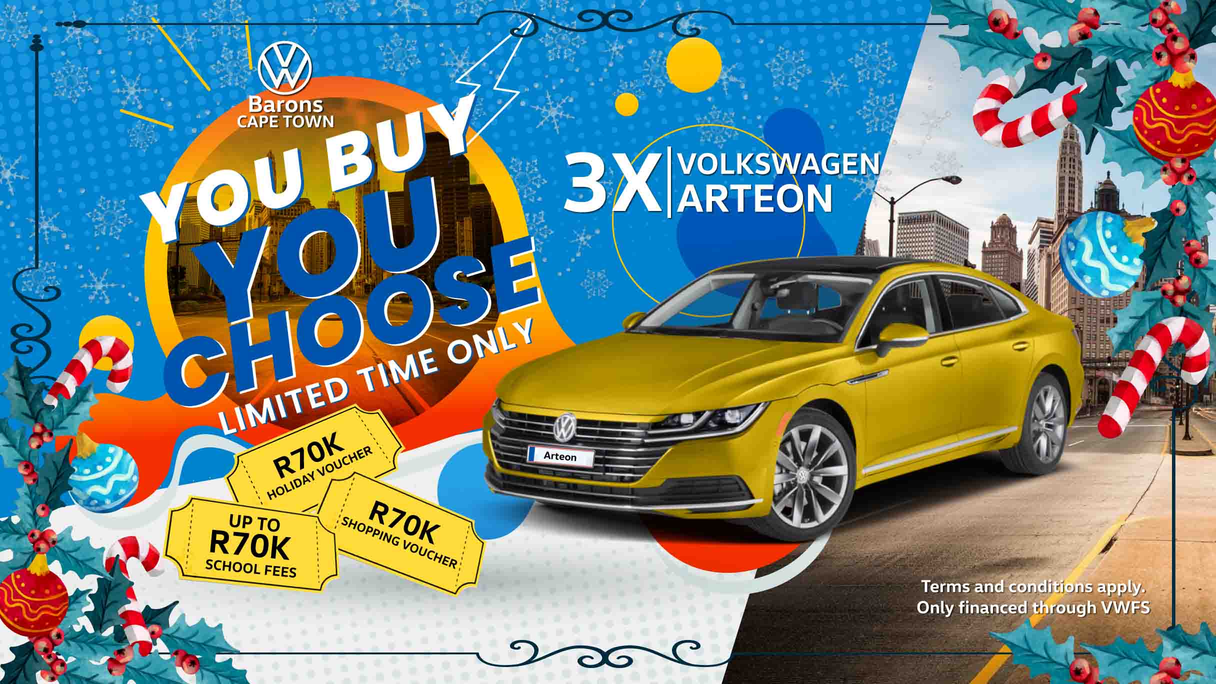 Festive offer on the Arteon at Barons Cape Town