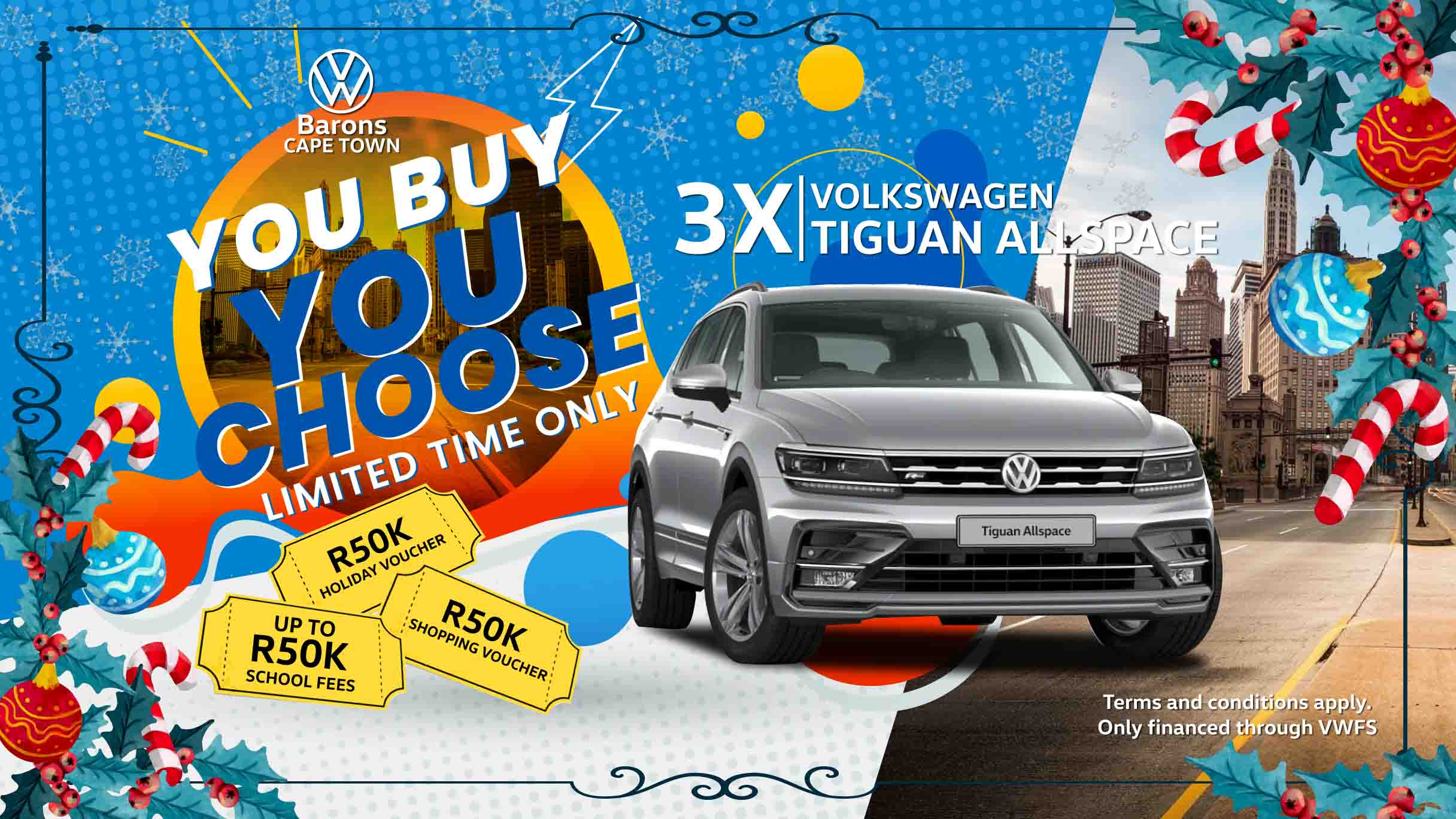 Festive offer on the Tiguan Allspace at Barons Cape Town