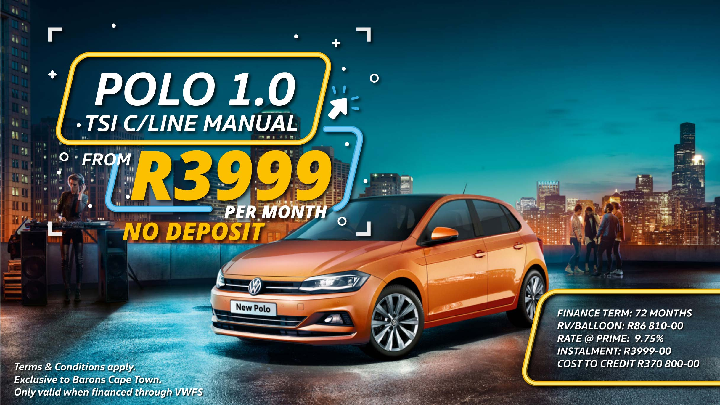VW Polo offer at Barons Cape Town