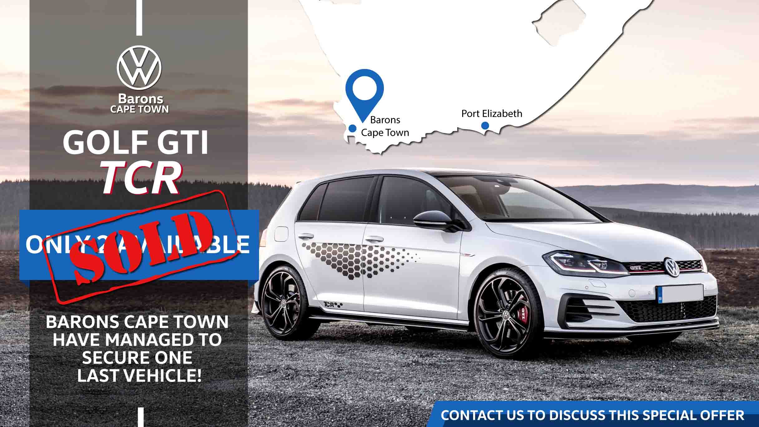 Barons Cape Town has one more Golf GTITCR