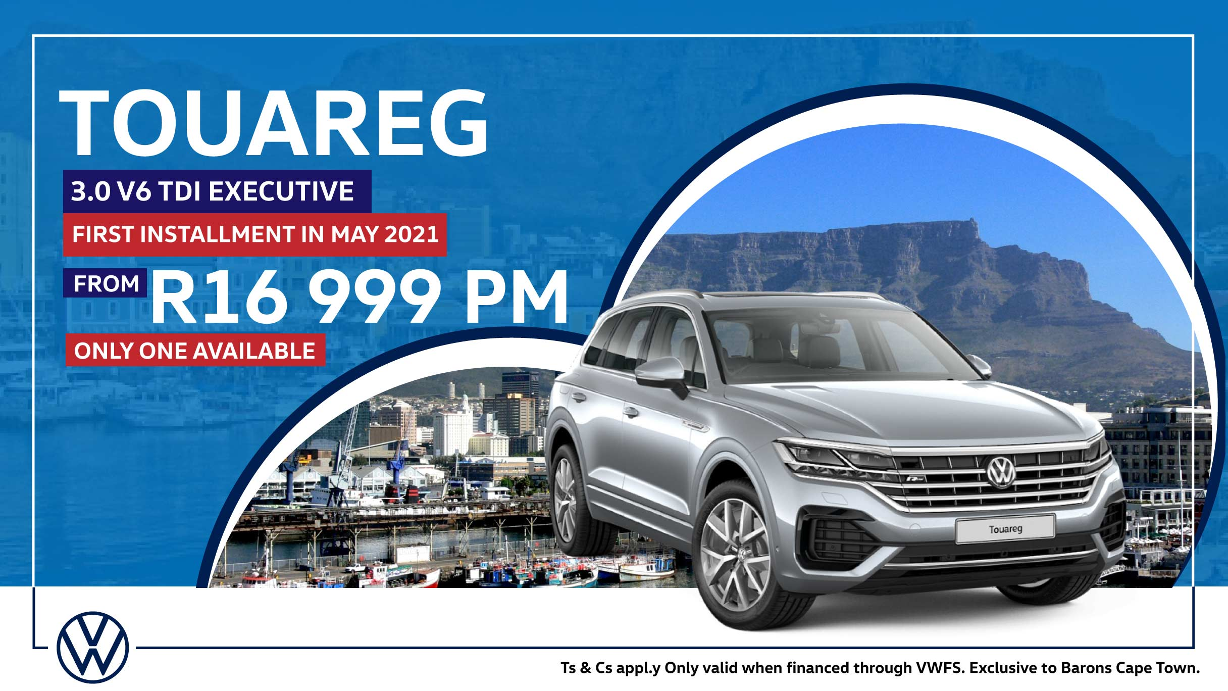 Touareg SUV offer at Barons Cape Town